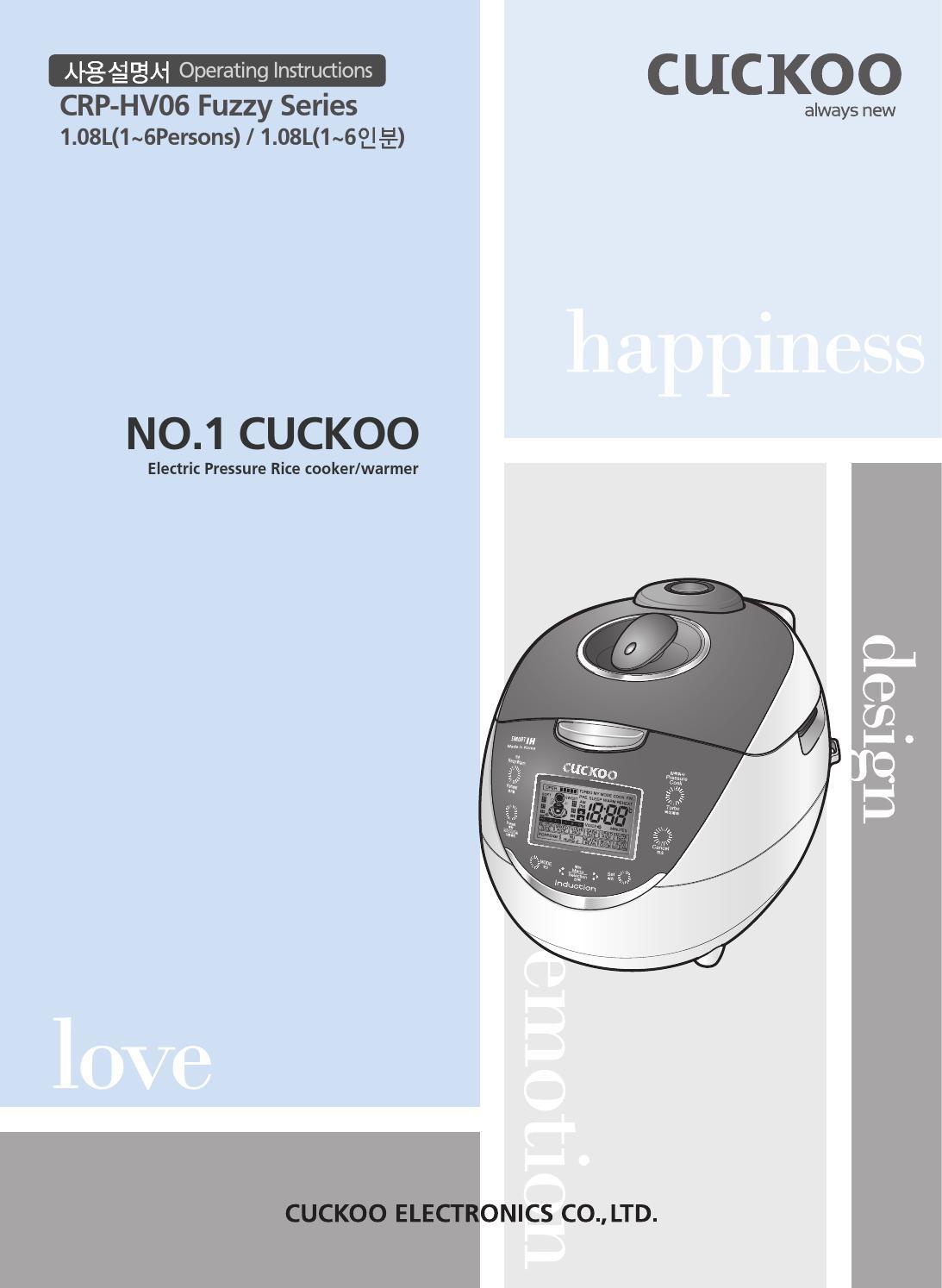 Crp Hv0667f Korean By Cuckoomallusacom Issuu Wiring Diagram Rice Cooker
