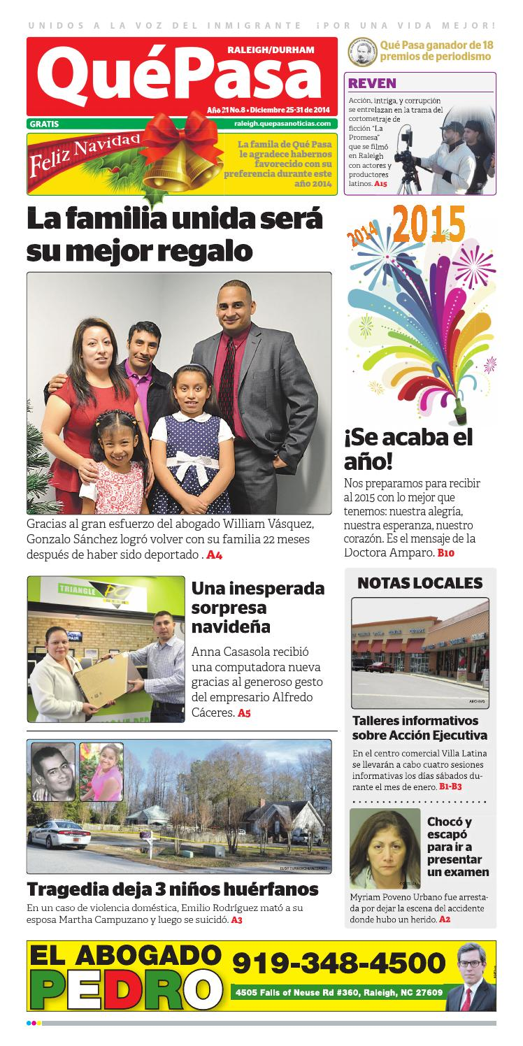 Quepasa raleigh v21n08 by Que Pasa Media Network - issuu