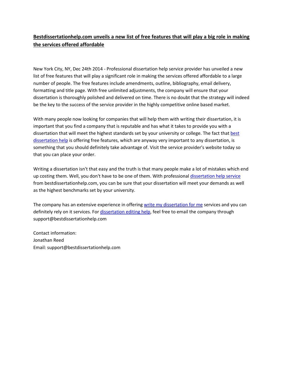 Help on dissertation 9001