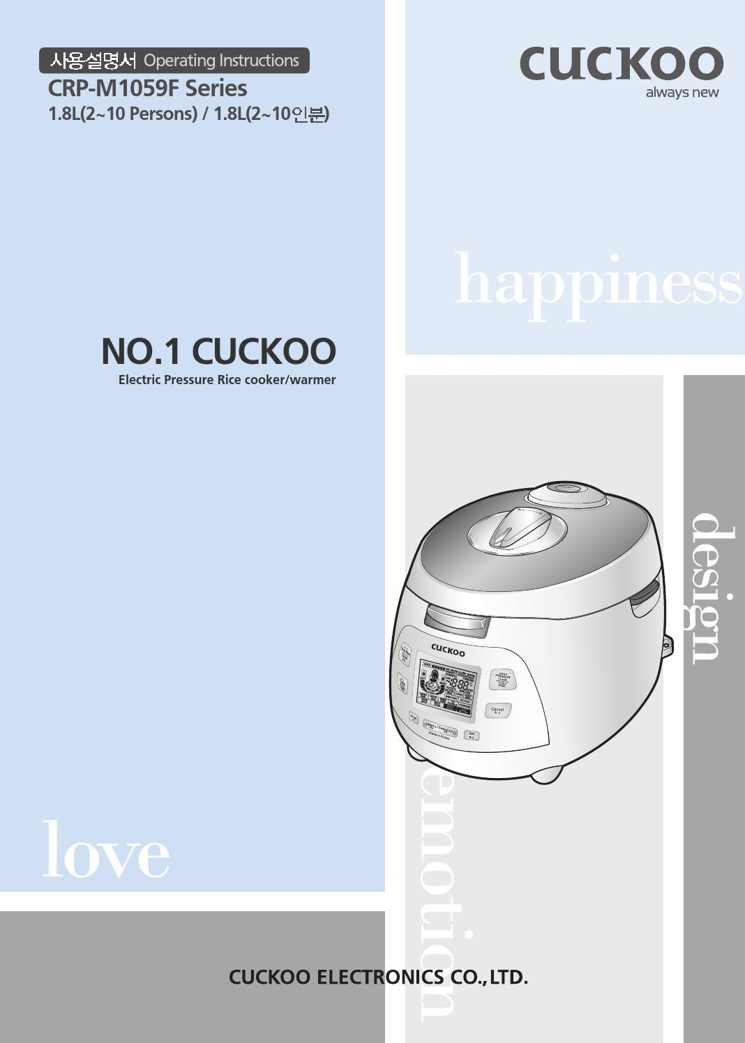 Crp M1059f English By Cuckoomallusacom Issuu Wiring Diagram Rice Cooker
