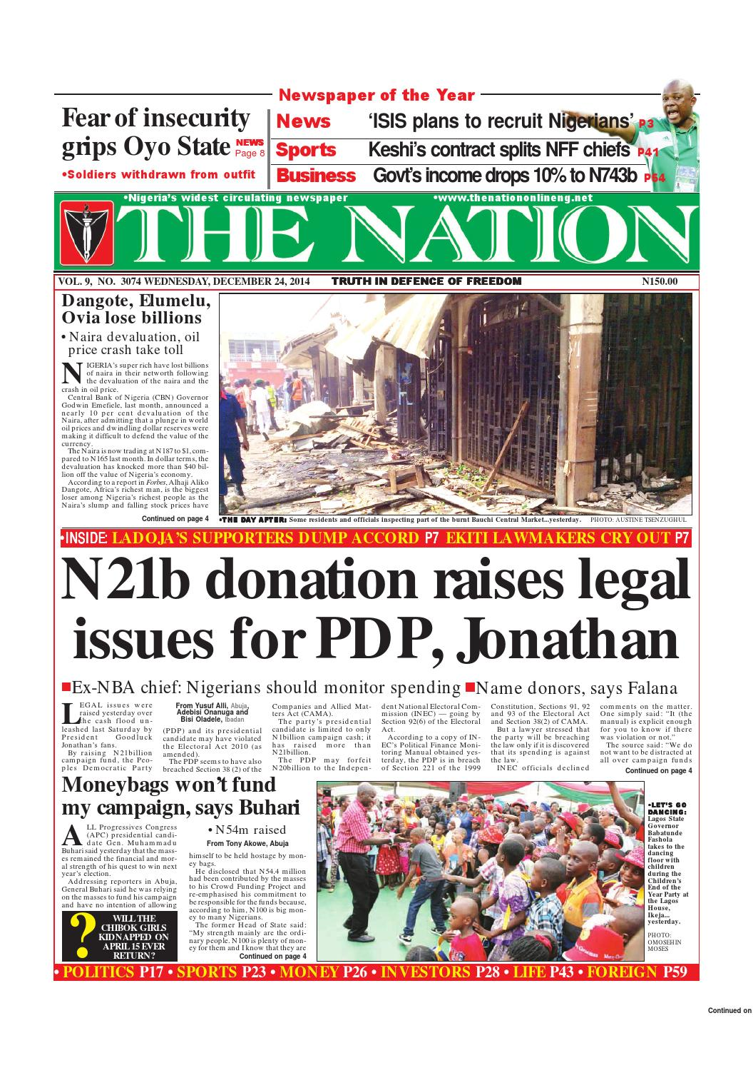 The nation december 24 2014 by the nation issuu fandeluxe Choice Image