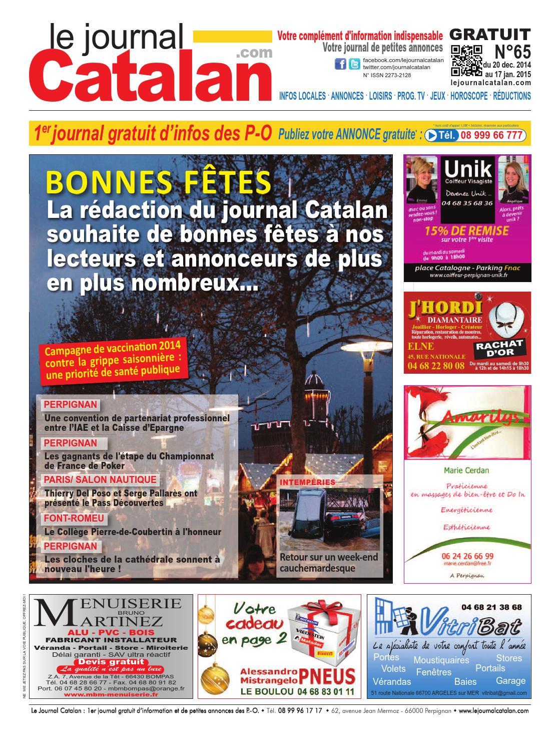 Le Journal Catalan N°65 premier journal gratuit d