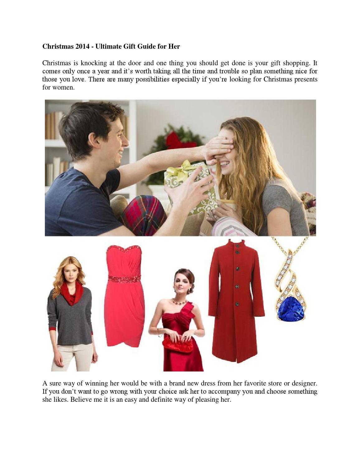 Christmas 2014 - ultimate gift guide for her by Angara - issuu
