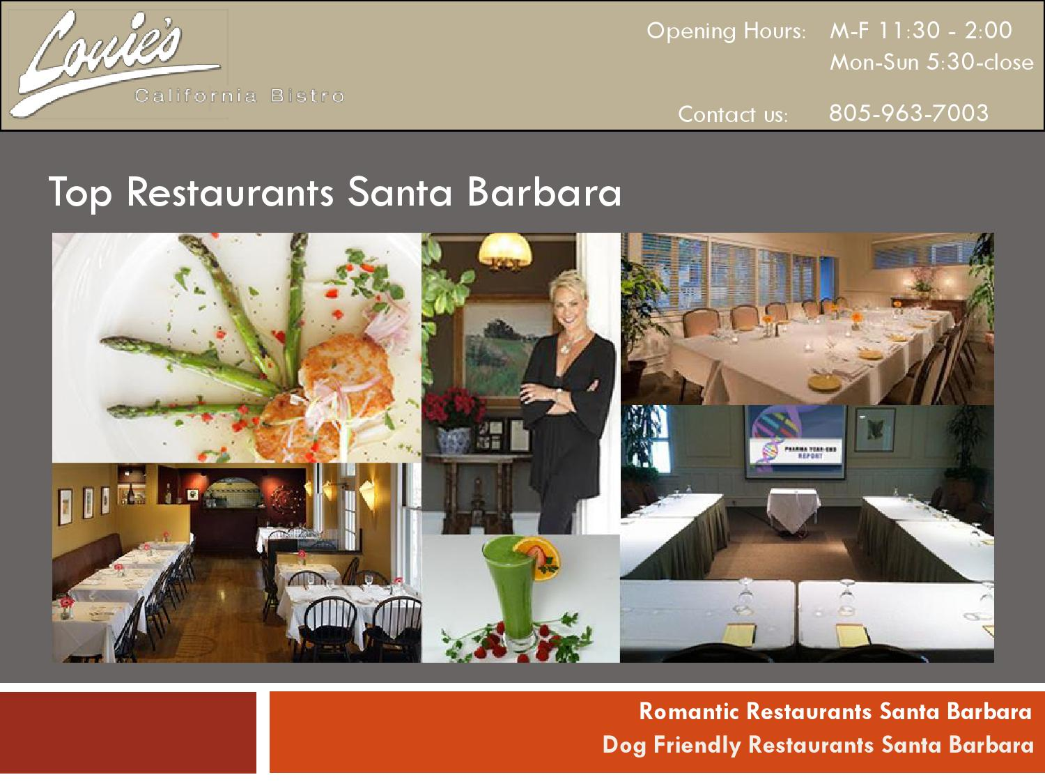 Santa Barbara Restaurants Lunch Seafood Dining Banquet Louie 039 S California B By Anne Rizzoli Issuu