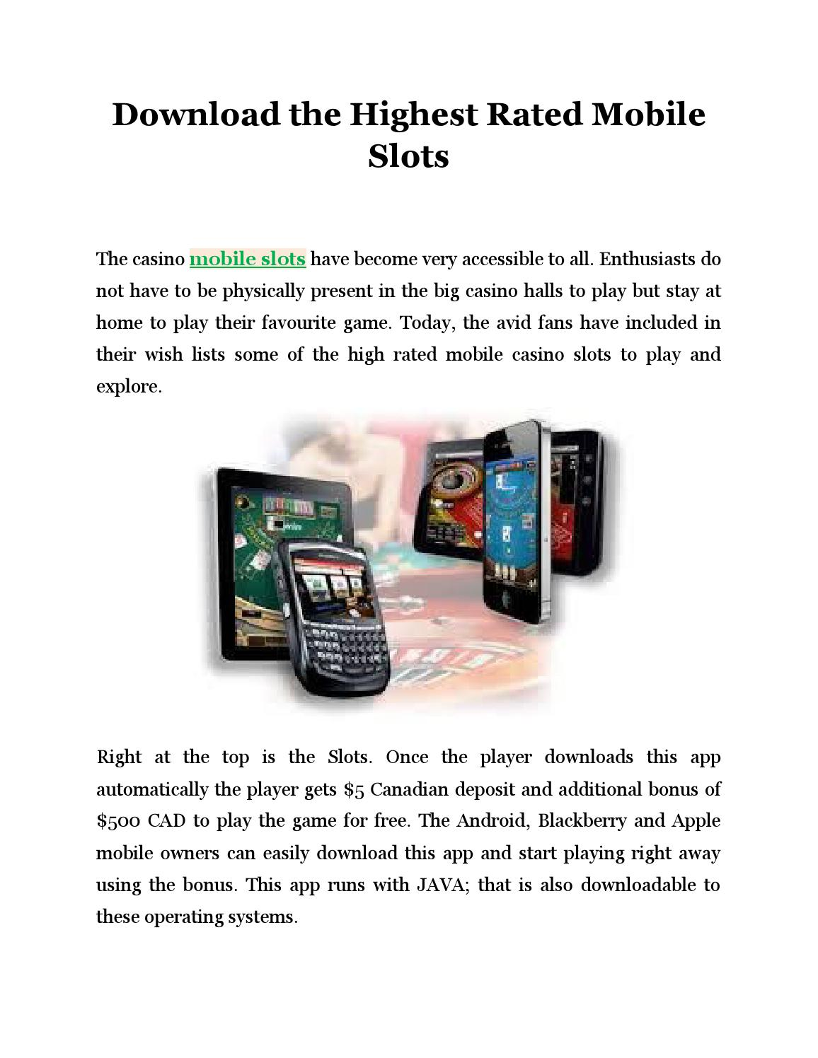 Download The Highest Rated Mobile Slots By Orvillewong Issuu
