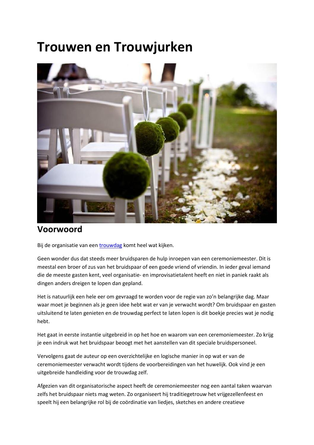 Trouwen En Trouwjurken By C Appelboom Issuu