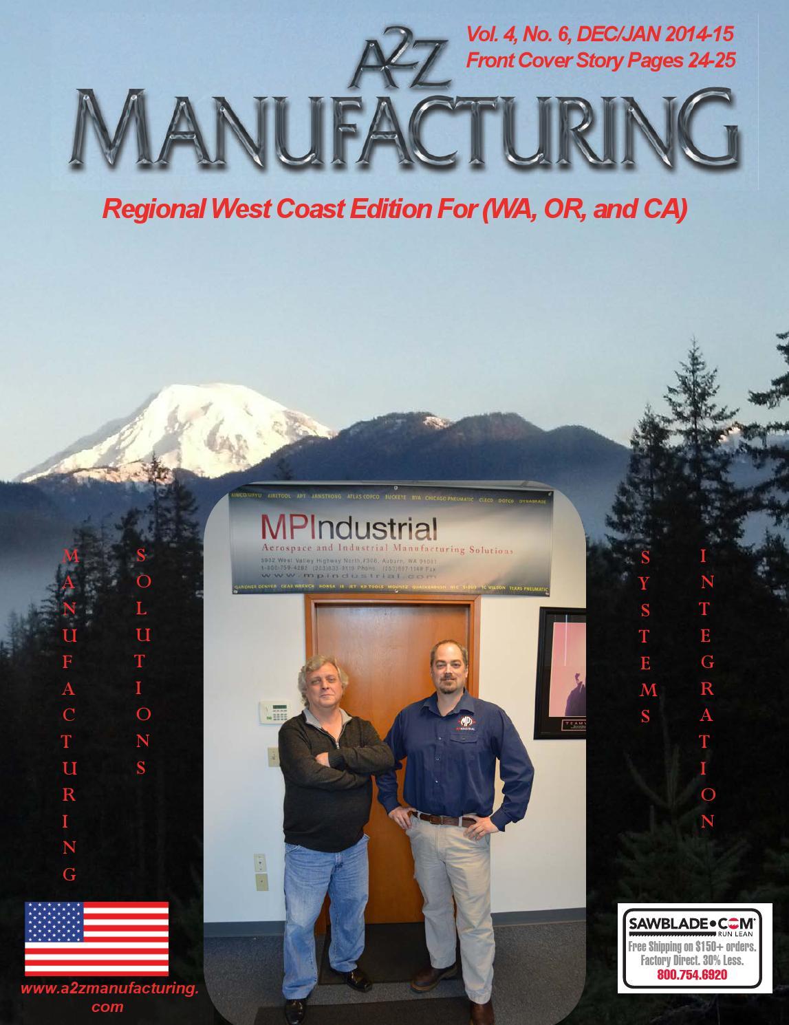 A2Z Manufacturing West Coast Dec Jan 2014 15 by A2Z