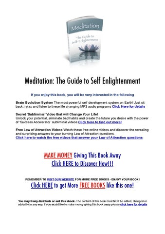 Meditation: The Guide to Self Enlightenment by William High