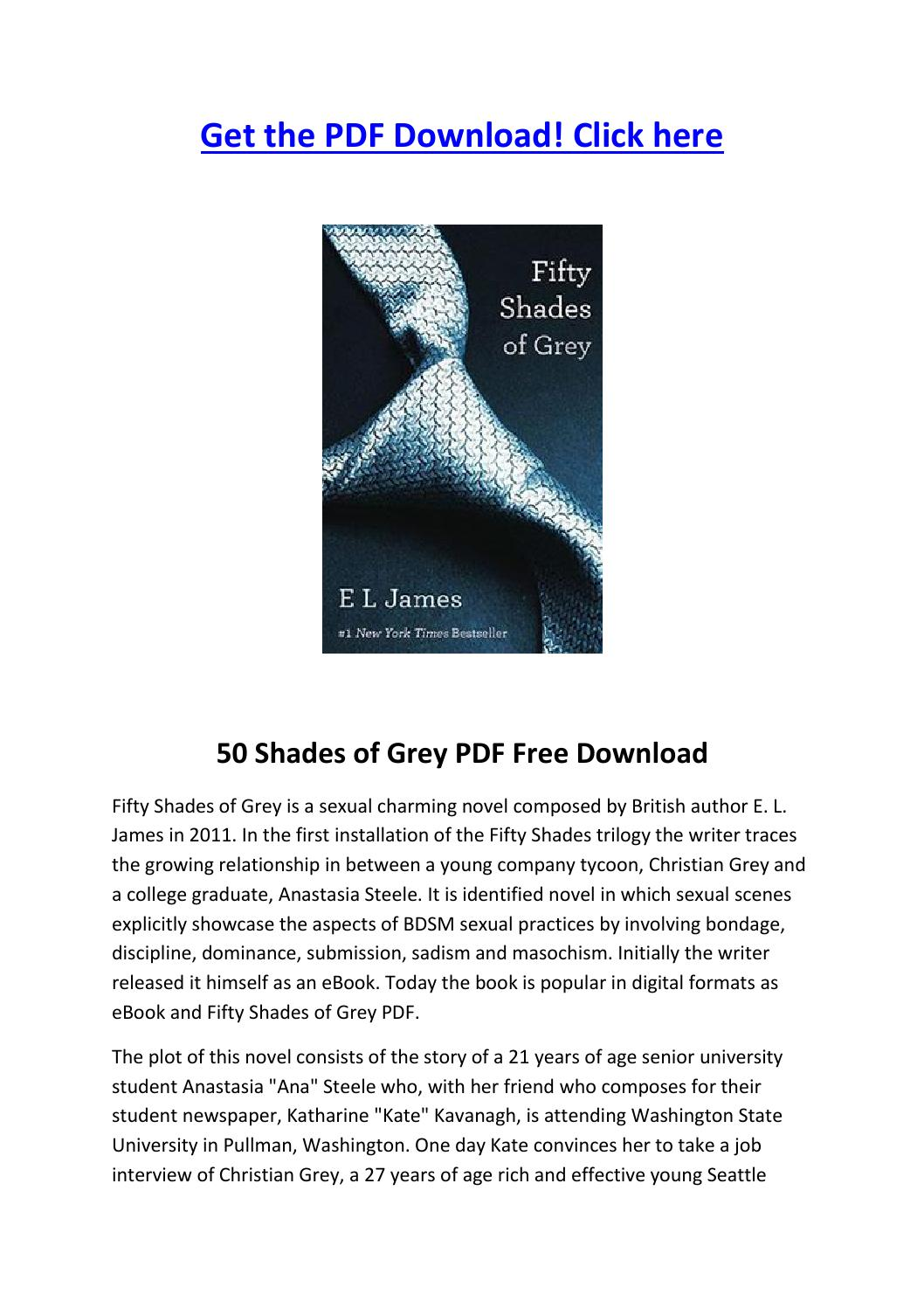 50 shades of grey book 1 pdf free