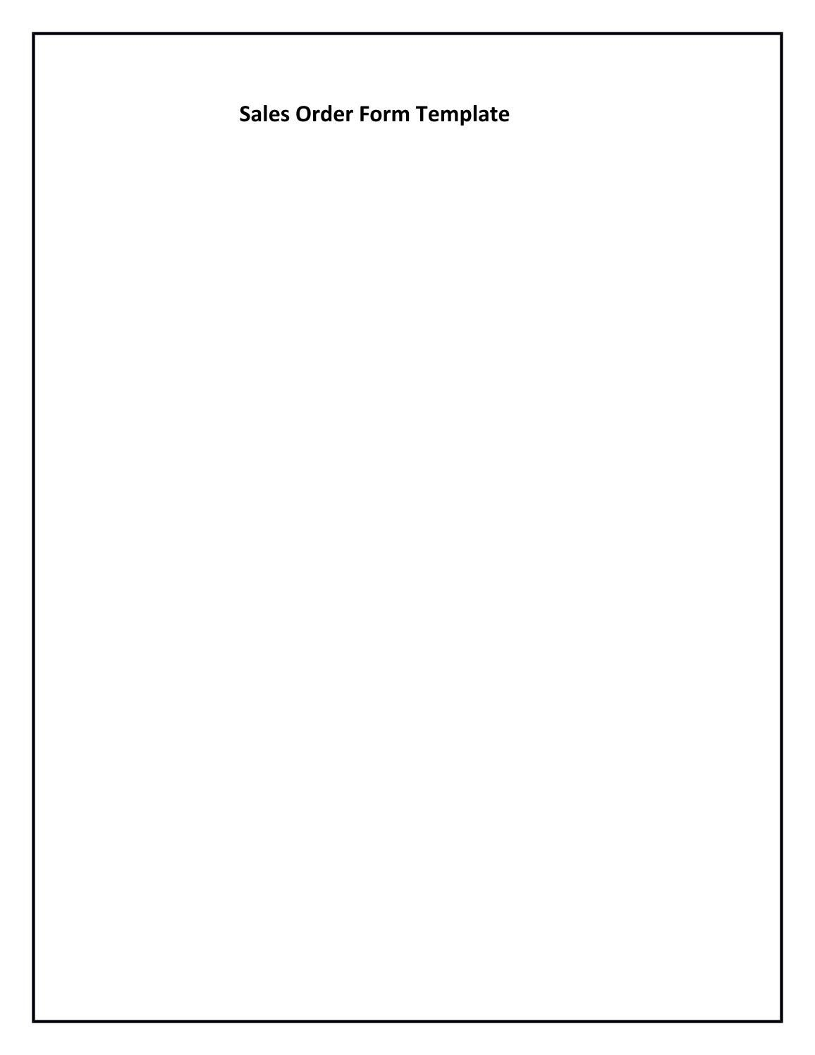 Sales Order Form Template from image.isu.pub