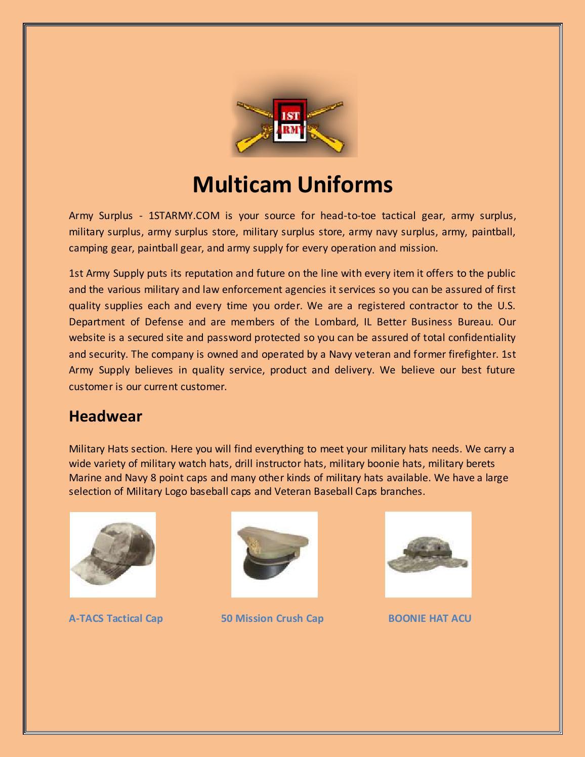 Multicam uniforms by Army Supply - issuu