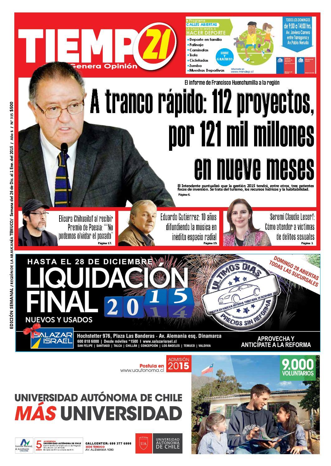 Edici N 315 Francisco Huenchumilla A Tranco R Pido 112 Proyectos  # Muebles Mehuin Rancagua