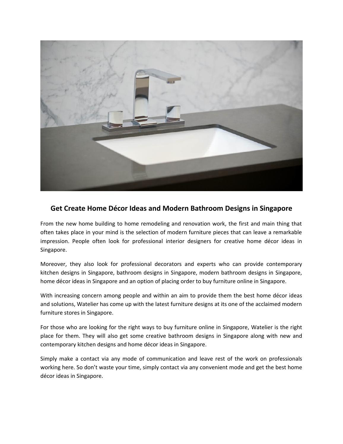 Get create home décor ideas and modern bathroom designs in singapore ...