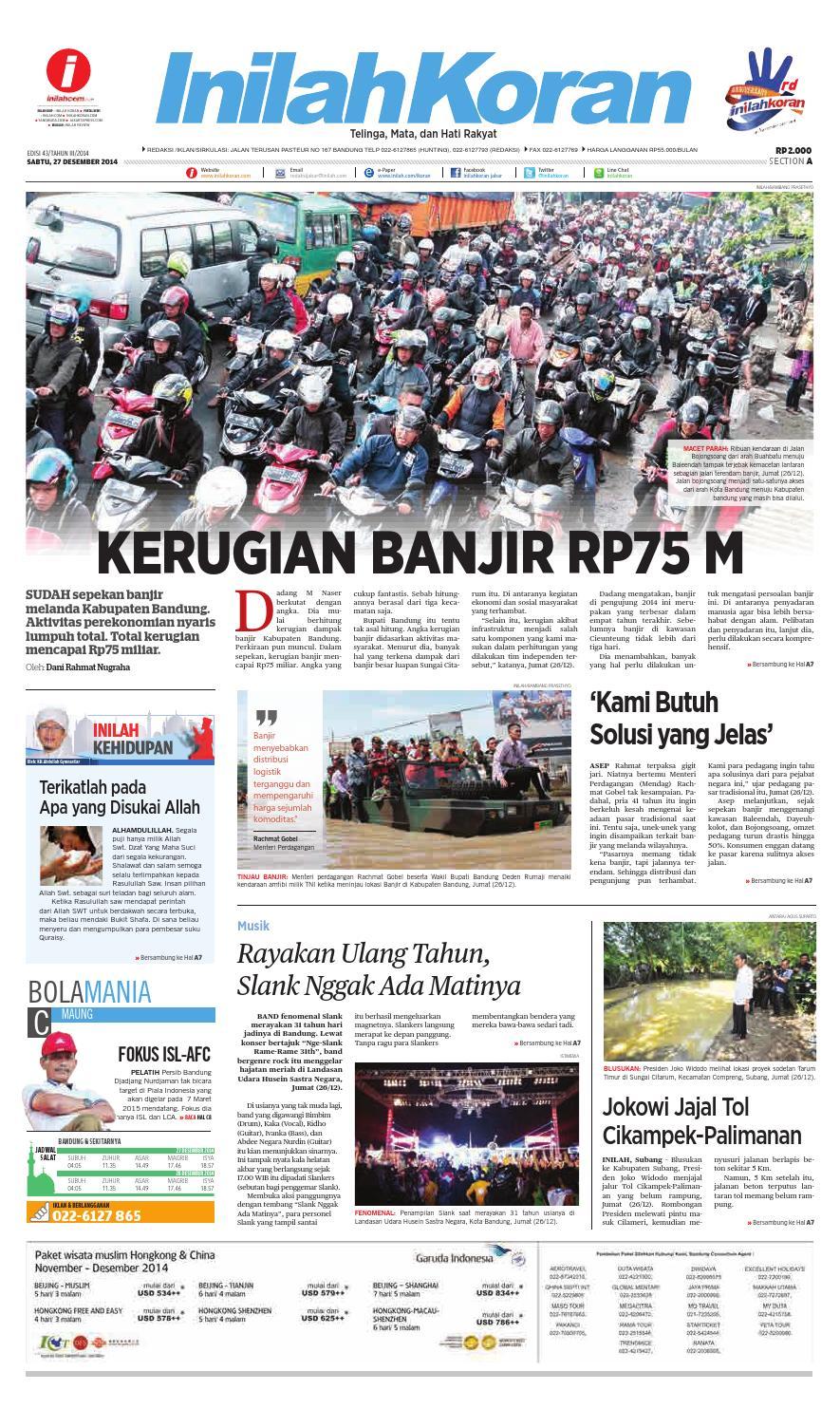 KERUGIAN BANJIR RP75 M by inilah koran - issuu 1efcb43b1a
