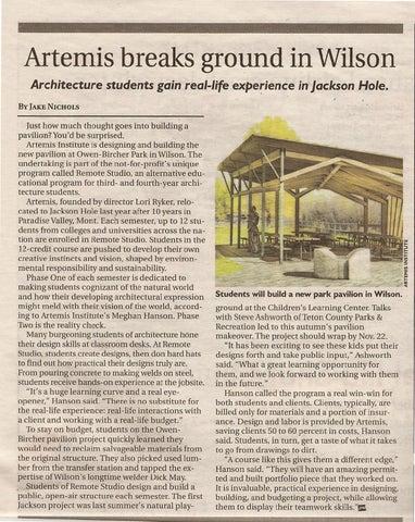 Jackson Hole, WY Newspaper Article by Josh Cristy - issuu