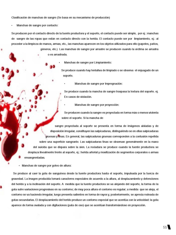 manchas de sangre por proyeccion