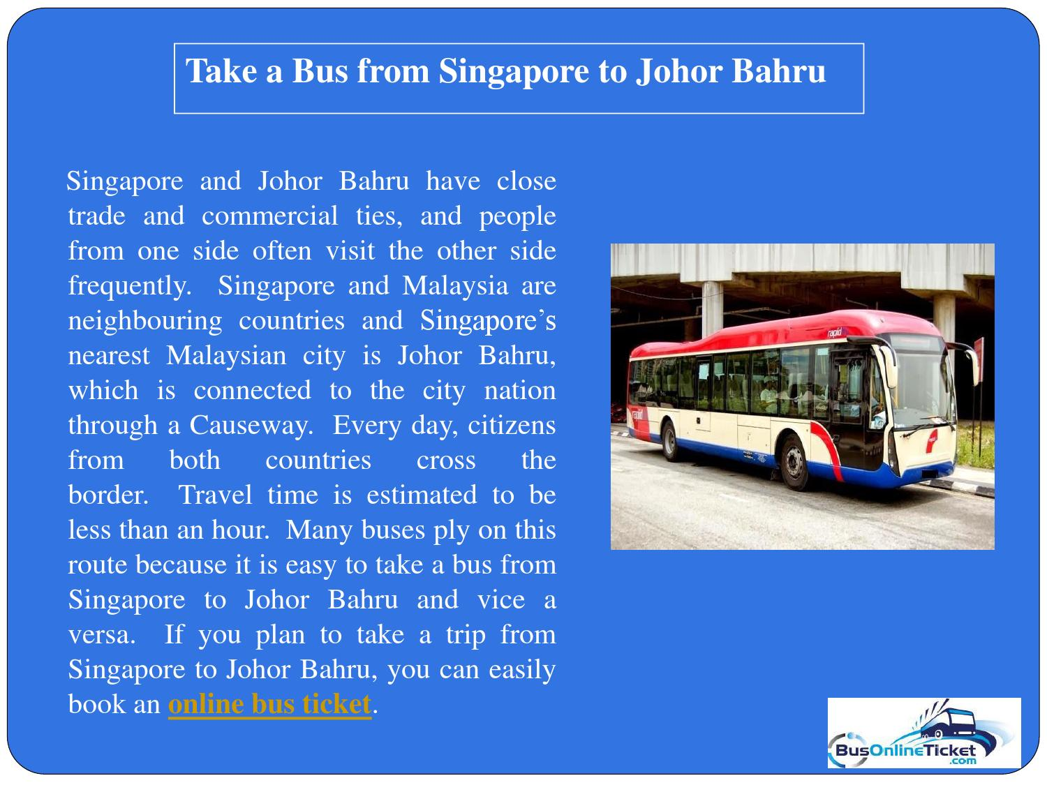 Public bus planning system in johor bahru malaysia tourism essay