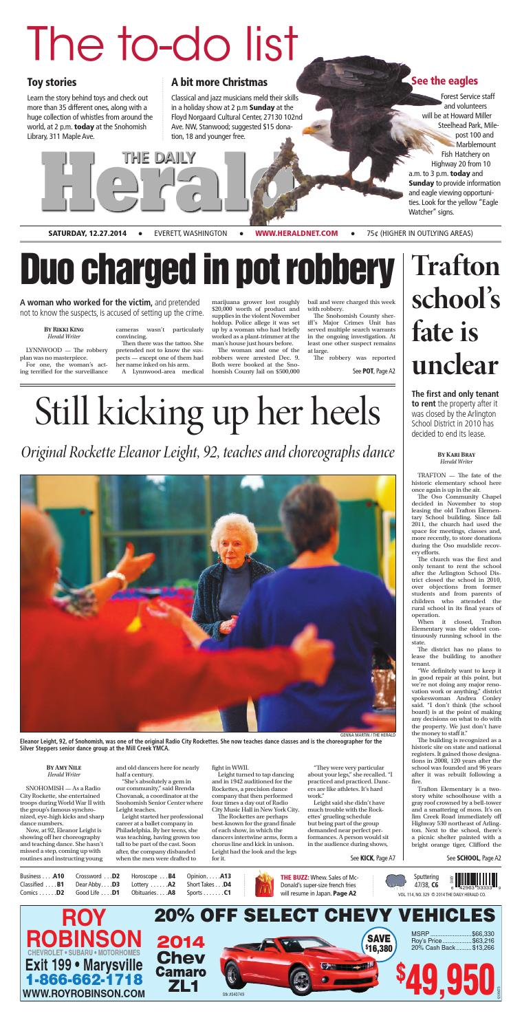 Everett Daily Herald, December 27, 2014 by Sound Publishing