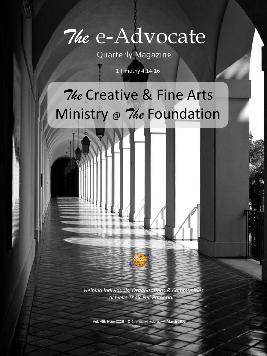 The Creative Fine Arts Ministry The Foundation By The Advocacy Foundation Inc Issuu