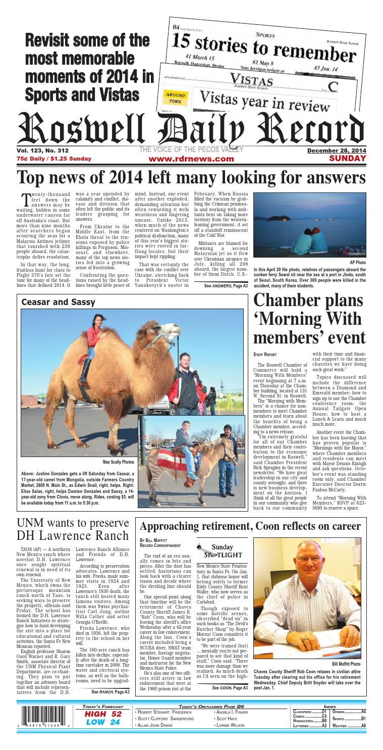 Sun 12 28 14 pages by Roswell Daily Record - issuu