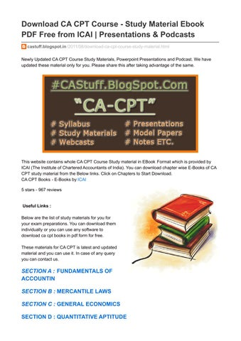Mercantile Law For Cpt Pdf