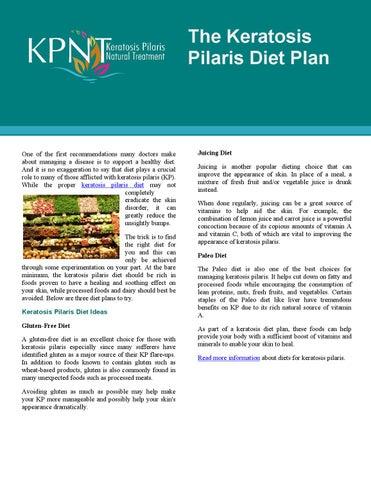 keratosis pilaris diet plan