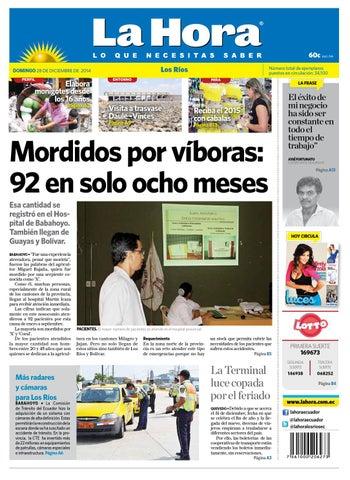 Issuu Ecuador 28 2014 Ríos Diciembre By La De Los Hora Diario K1lJF3Tc