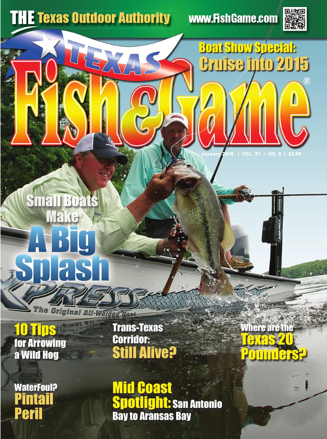 Texas fish game january 2015 by texas fishing and for Texas game and fish