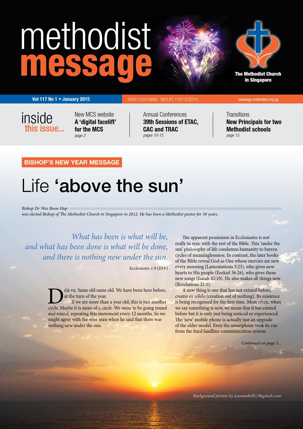 Methodist Message: January 2015 Issue by Methodist Message