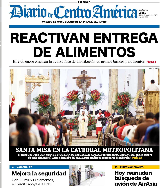 Edicion 29 12 2014 by Diario de Centro América Guatemala - issuu
