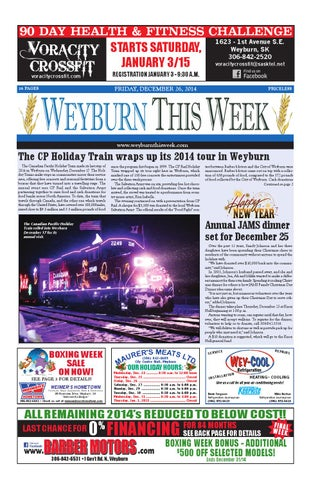 337502d371 Weyburn This Week - Dec. 26 14 by Weyburn This Week - issuu