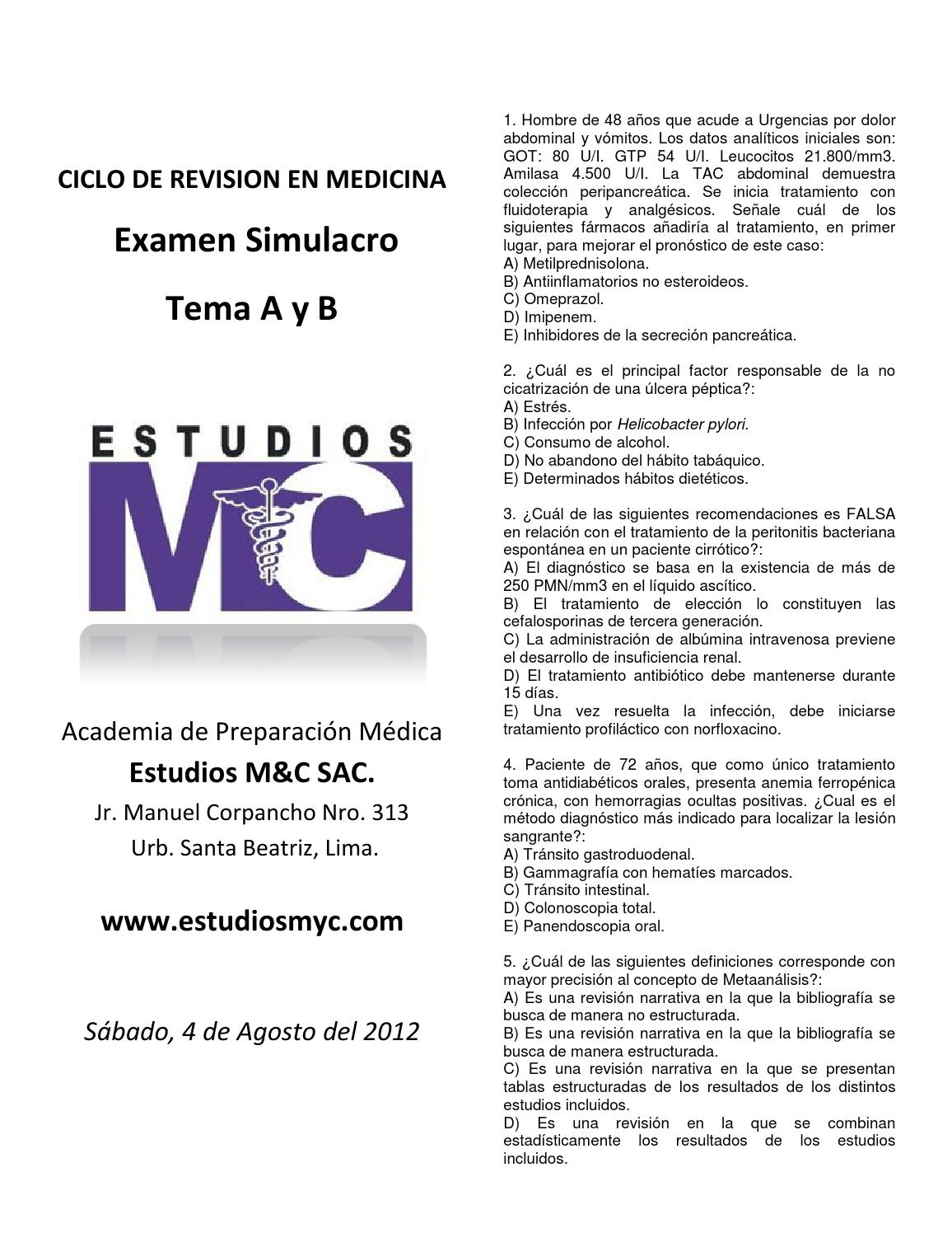 Simulacros medicos by WILLPLUS - issuu