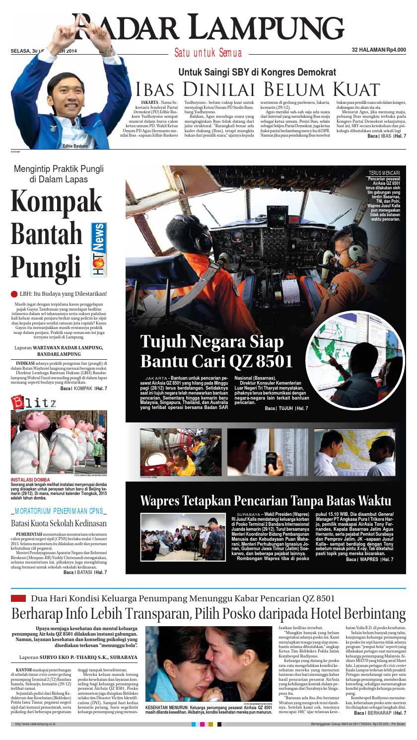 Radar Lampung Selasa 30 Desember 2014 By Ayep Kancee Issuu Mainan Mobil Anak Tomica Limited Vintage Series Datsun Bluebird 1300 Standard