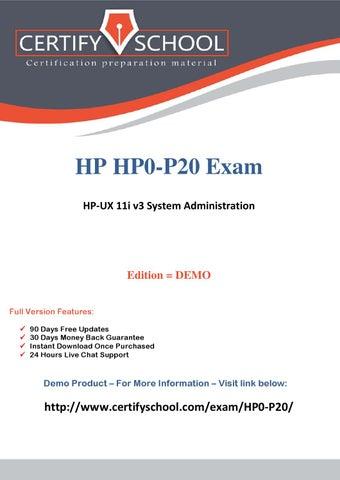 HP0-P20 CertifySchool Exam Actual Questions (pdf) by CertifySchool ...