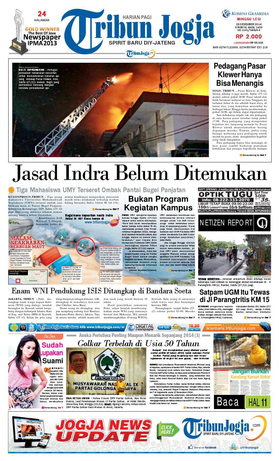 Tribunjogja 28 12 2014 By Tribun Jogja Issuu Kue Mawar Nuris Bakeri Ampamp Caterring Akumandiri
