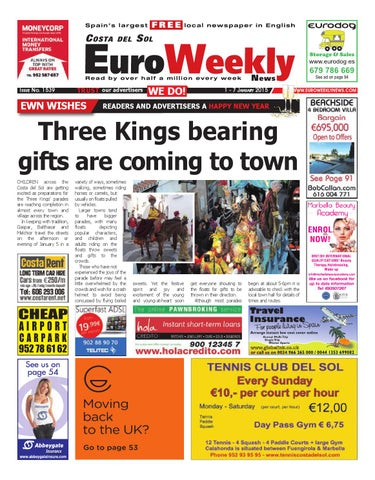 Euro Weekly News - Costa del Sol 1 - 7 January 2015 Issue 1539 by ... 7471d1530a