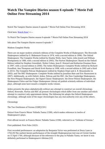 Watch The Vampire Diaries Season 6 Episode 7 Movie Full Online Free Streaming 2014 By Hurriedcamper8265 Issuu