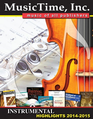 Musictime Instrumental Highlights 2014 2015 By Musictime Issuu