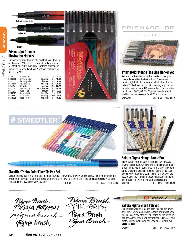 Prismacolor Water Resistant 14178  .005 XFine Black Fine Line Marker 1-Each