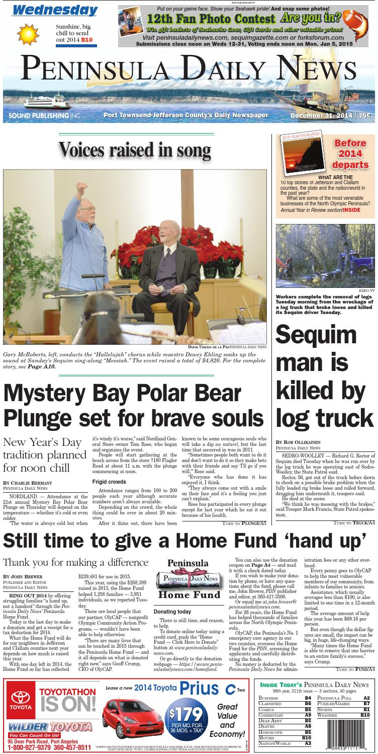 PDN20141231J by Peninsula Daily News & Sequim Gazette - issuu