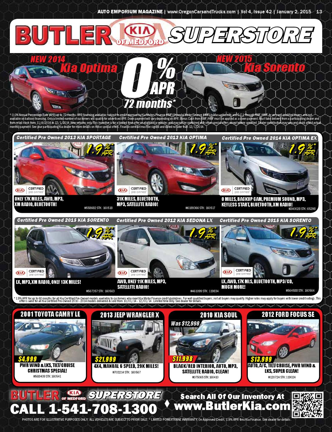 Kia Certified Pre Owned >> Auto Emporium January 2 2015 By Rogue Publishing Llc Issuu
