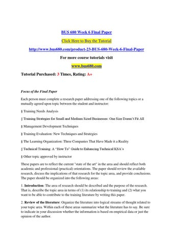 the importance of using an mba essay review service by nitai chand  bus 680 week 6 final paper