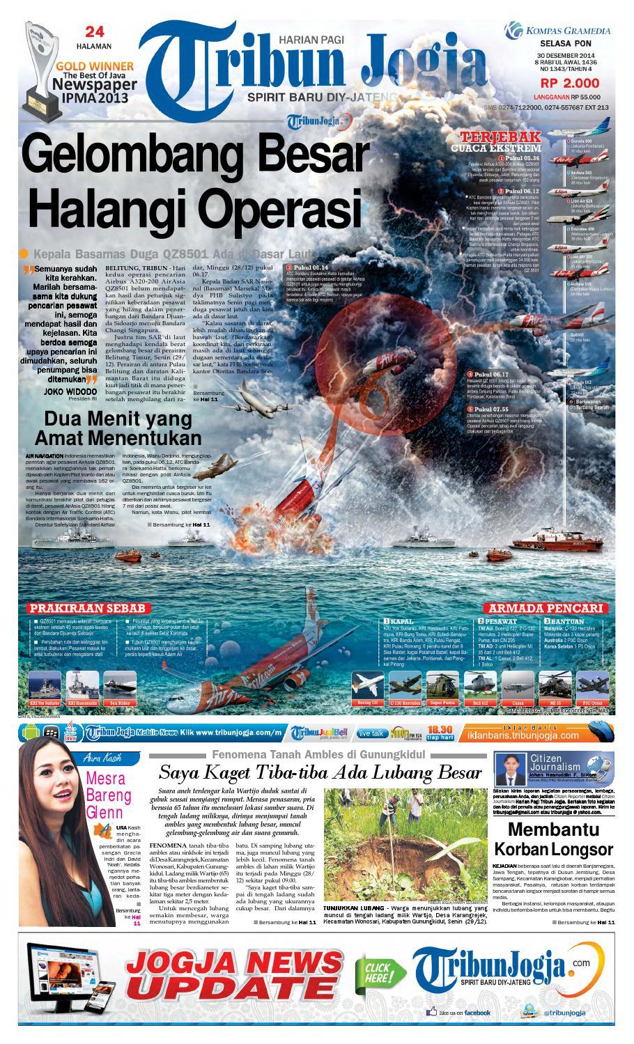 Tribunjogja 30 12 2014 By Tribun Jogja Issuu Produk Ukm Bumn Tenun Pagatan Kemeja Pria Biru Kapal