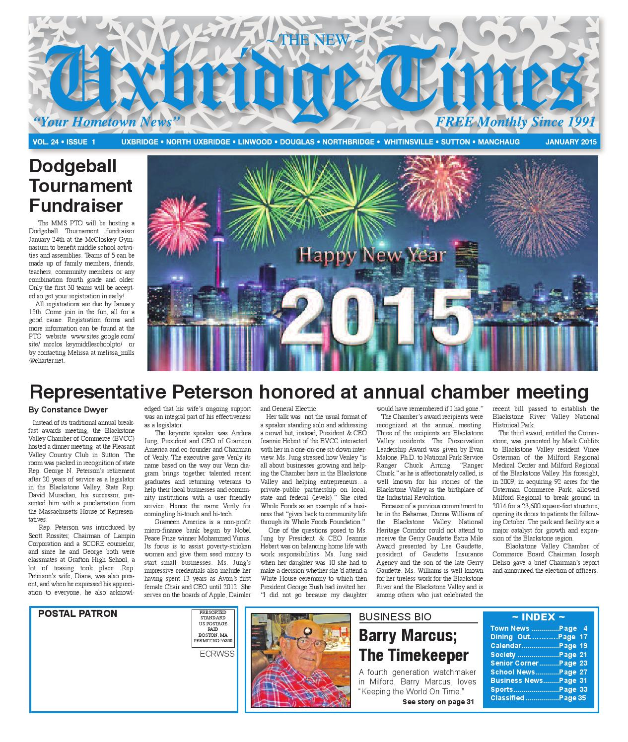 The New Uxbridge Times - January, 2015 by The New Uxbridge Times - issuu