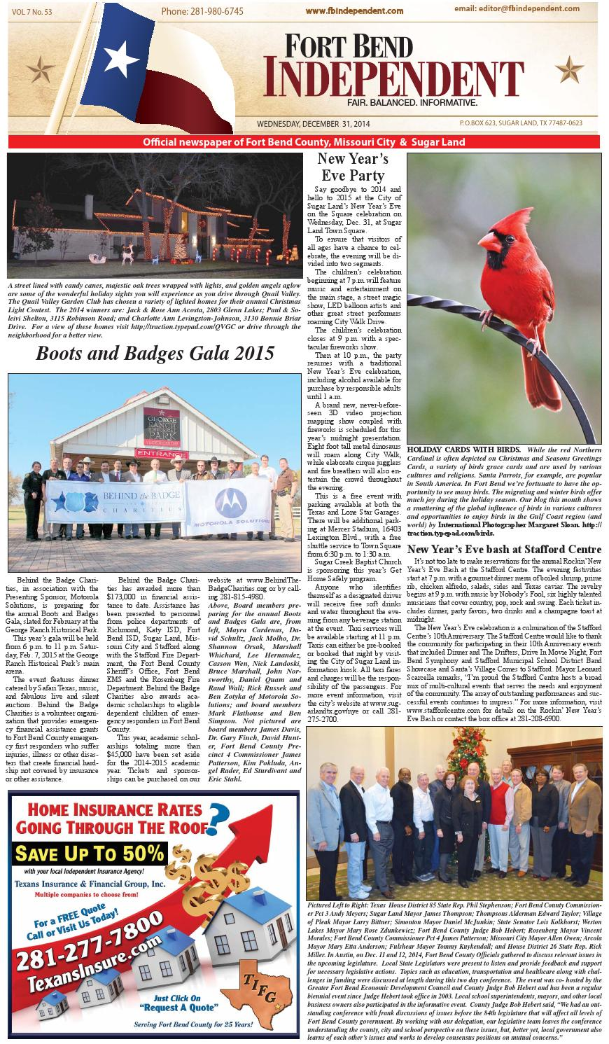 Fort Bend Independent123114 By Fort Bend Independent Issuu