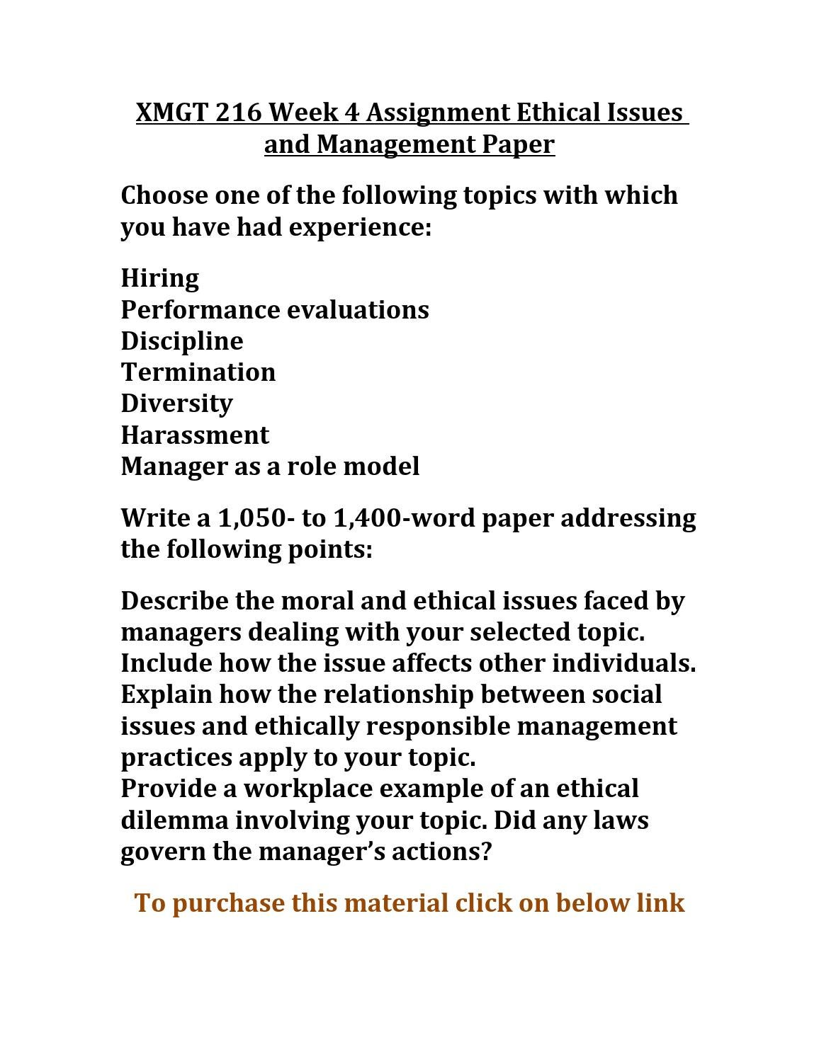 ethical issues in management ppt