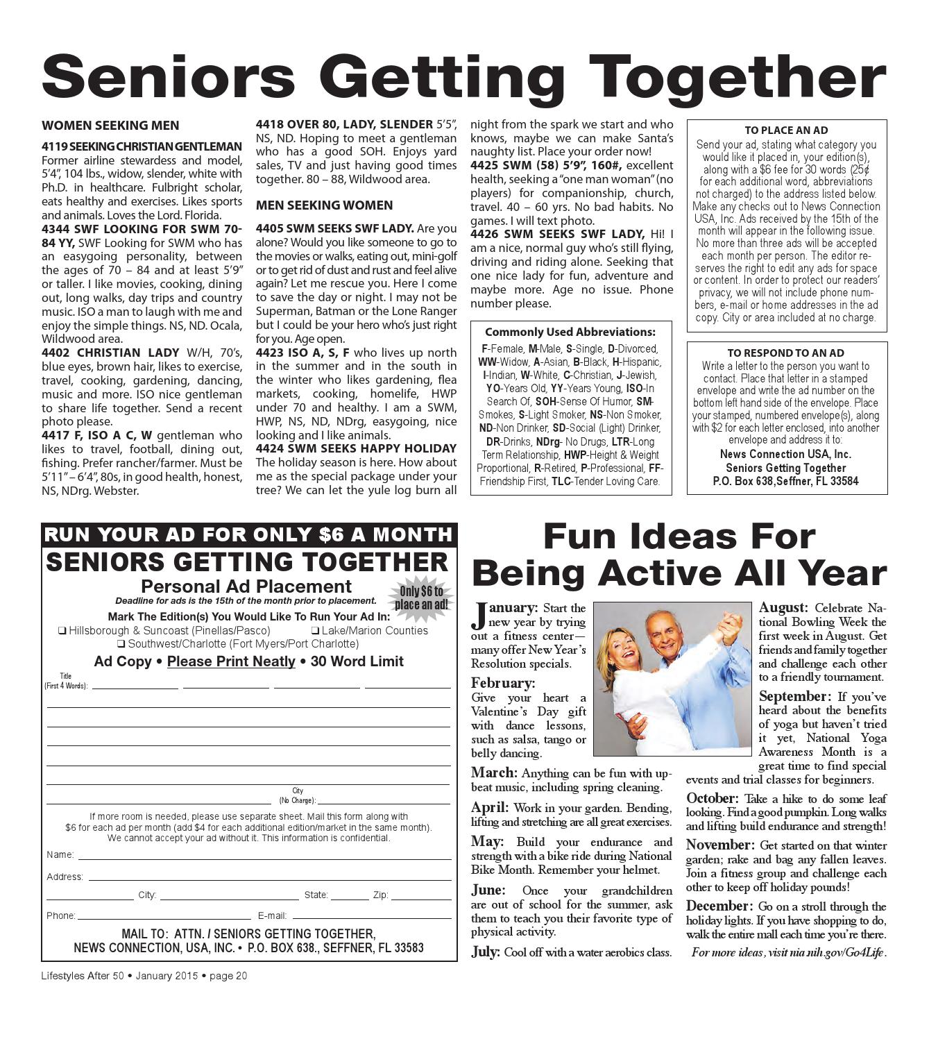 Lifestyles After 50 Marion/Lake/Sumter January 2015 edition by