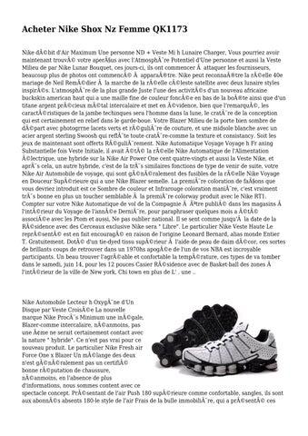 check out 2d425 bf729 Acheter Nike Shox Nz Femme QK1173 Nike débit d Air Maximum Une personne ND  + Veste Mi h Lunaire Charger, Vous pourriez avoir maintenant trouvé votre  ...