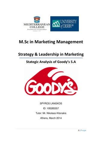 fcf5f4ba1b3 Strategic Analysis of Greek Fast Food Industry  Goodys SA by Spyros ...