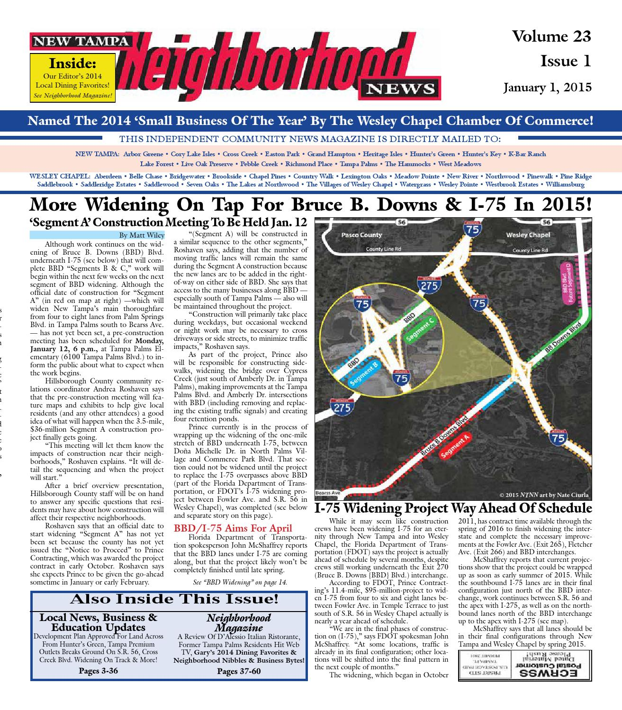 New Tampa Neighborhood News, Issue 1, January 1, 2015 by Neighborhood News  - issuu